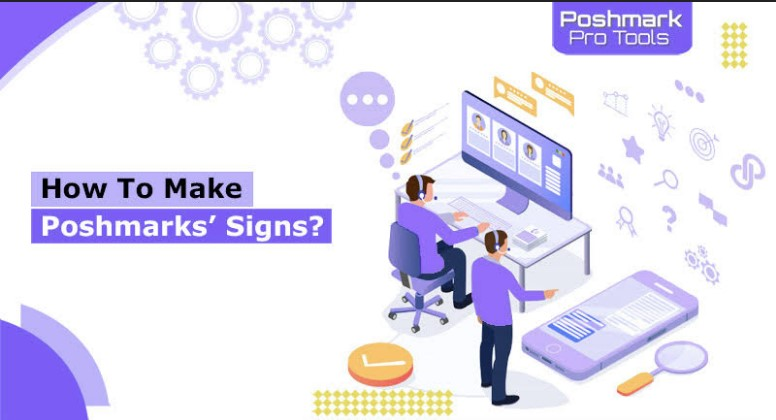 how to make poshmarks' signs